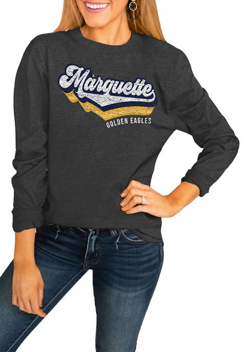 NCAA Marquette Golden Eagles Vivacious Varsity Long Sleeved Top