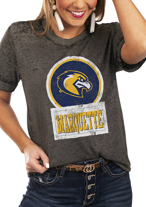 NCAA Marquette Golden Eagles Let The Good Vibes Roll Boyfriend Top