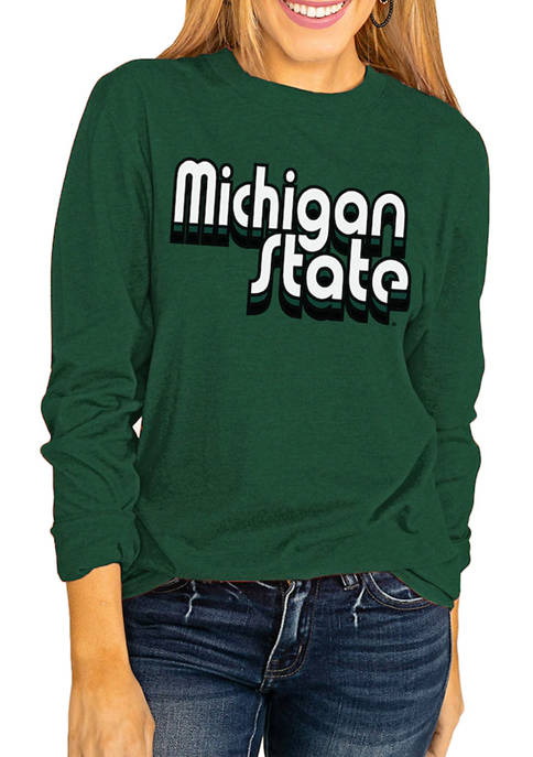 NCAA Michigan State Spartans Throwback Varsity Vibes Long Sleeve Top