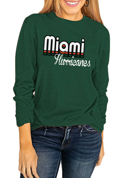 Gameday Couture NCAA Miami Hurricanes Throwback Varsity Vibes