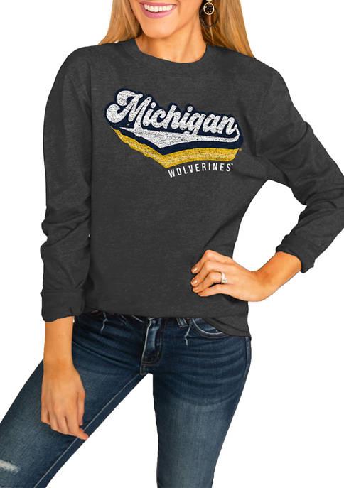 NCAA Michigan Wolverines Vivacious Varsity Long Sleeve Top