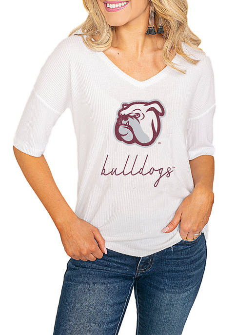 NCAA Mississippi State Bulldogs Easy Does It Soft Knit Ribbed Top