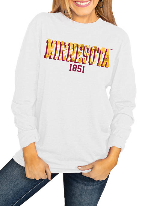 NCAA Minnesota Golden Gophers No Time to Tie Dye Long Sleeve Top