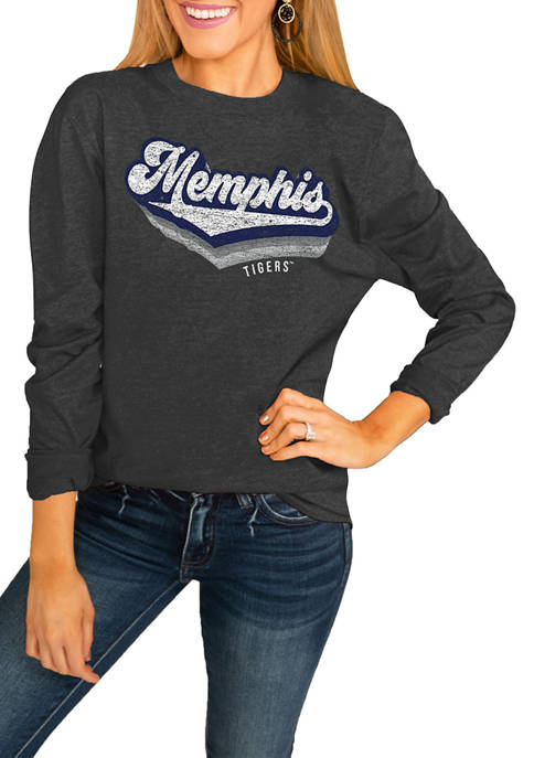 NCAA Memphis Tigers Vivacious Varsity Long Sleeved Top