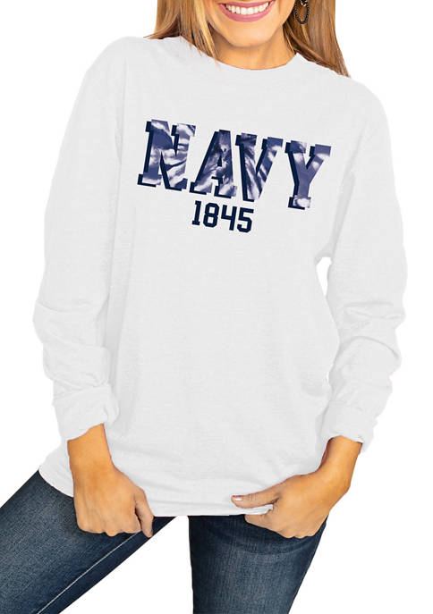 NCAA United States Navy Midshipmen No Time to Tie Dye Long Sleeve Top