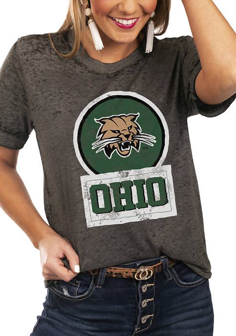 NCAA Ohio Bobcats Let The Good Vibes Roll Boyfriend Top