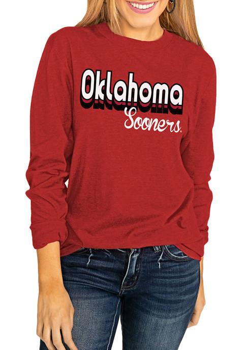 NCAA Oklahoma Sooners Throwback Varsity Vibes Long Sleeve Top