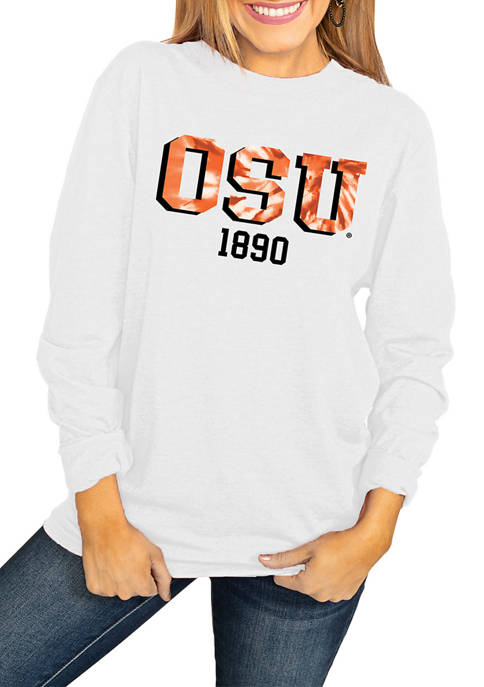 NCAA Oklahoma State Cowboys No Time to Tie Dye Long Sleeve Top