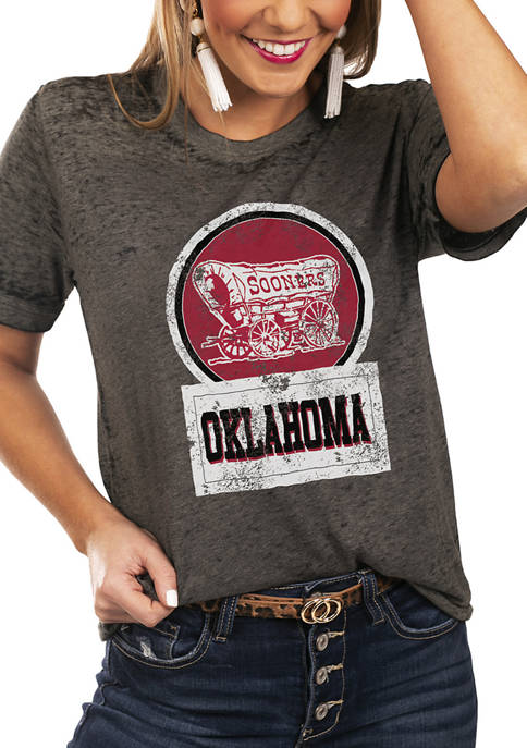 NCAA Oklahoma Sooners Let The Good Vibes Roll Boyfriend Top