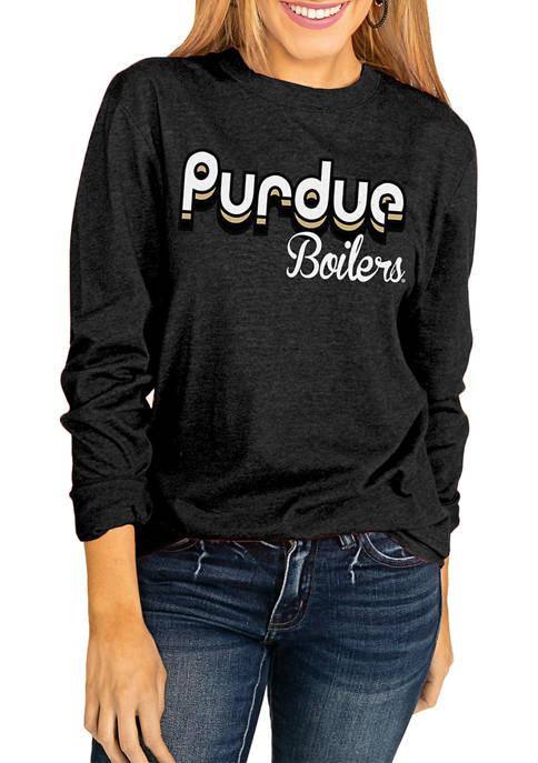 NCAA Purdue Boilermakers Throwback Varsity Vibes Long Sleeve Top
