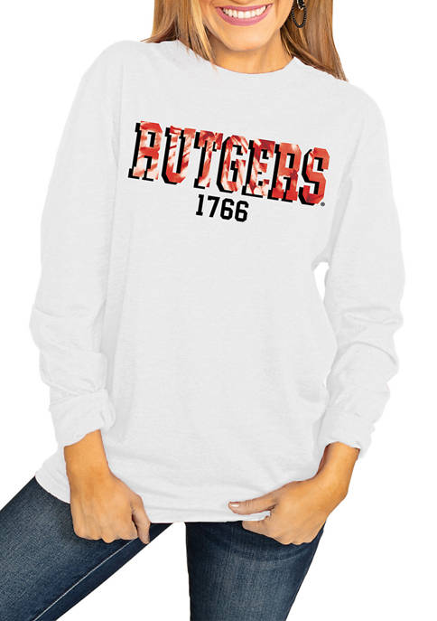 NCAA Rutgers Scarlet Knights No Time to Tie Dye Long Sleeve Top