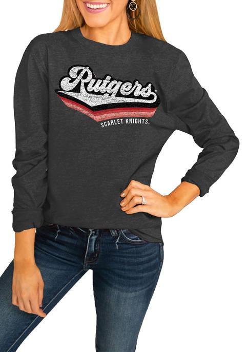 NCAA Rutgers Scarlet Knights Vivacious Varsity Long Sleeve Top