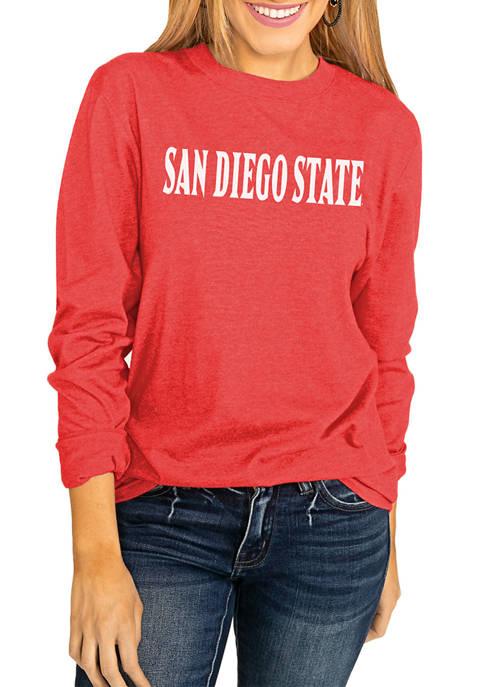 NCAA San Diego State Aztecs Throwback Varsity Vibes Long Sleeve Top