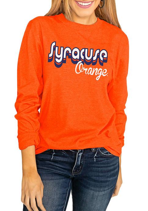 NCAA Syracuse Orange Throwback Varsity Vibes Long Sleeve Top