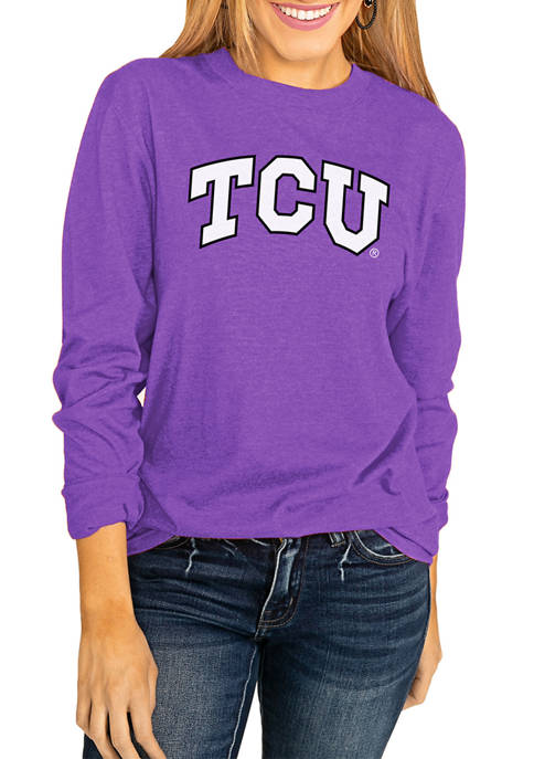 NCAA TCU Horned Frogs Throwback Varsity Vibes Long Sleeve Top