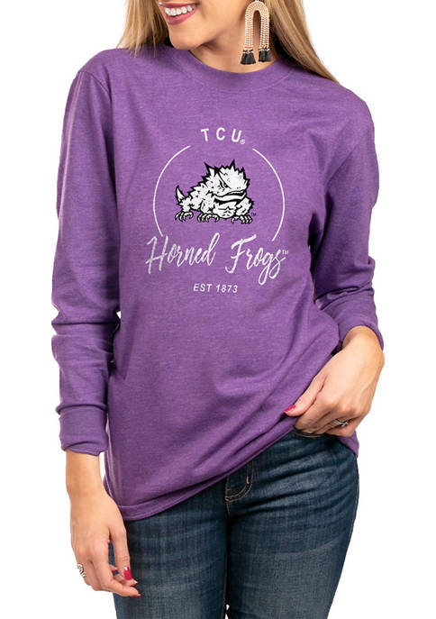 NCAA TCU Horned Frogs For The Home Team Long Sleeve Top