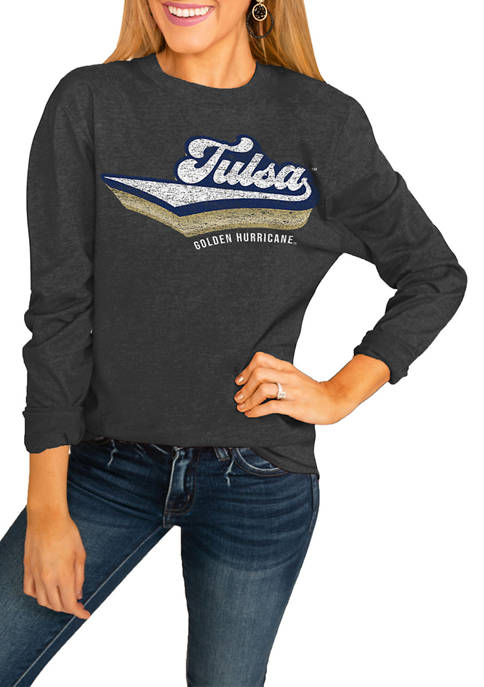 NCAA Tulsa Golden Hurricane Vivacious Varsity Long Sleeved Top