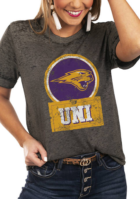 NCAA Northern Iowa Panthers Let The Good Vibes Roll Boyfriend Top