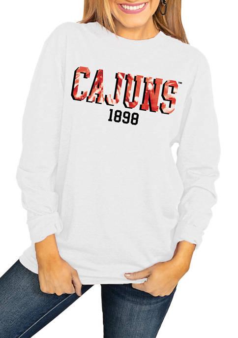 NCAA Lafayette Ragin Cajuns No Time to Tie Dye Long Sleeve Top