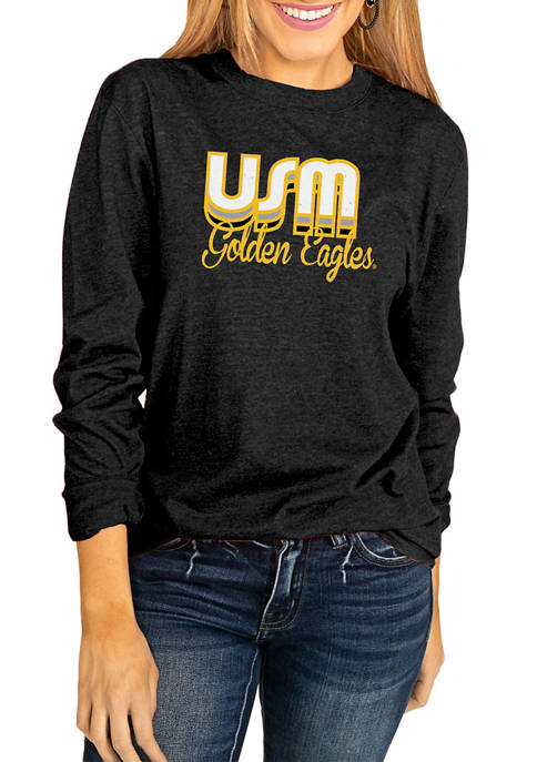 NCAA Southern Mississippi Golden Eagles Throwback Varsity Vibes Long Sleeve Top