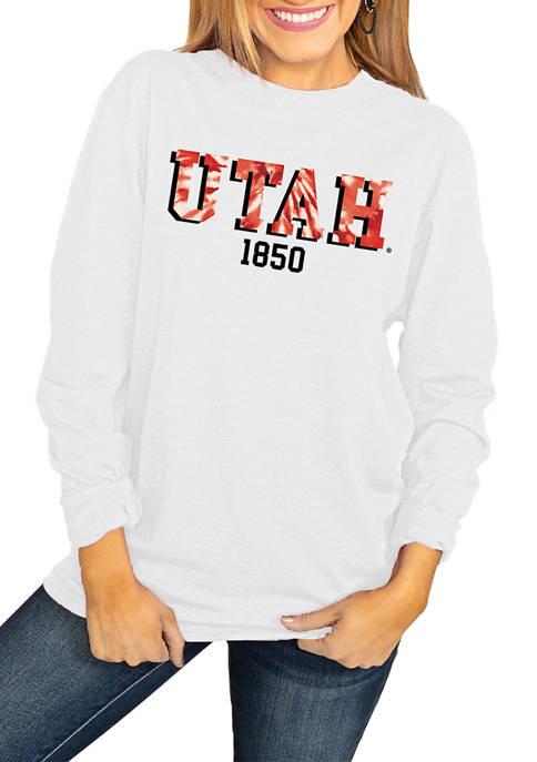 NCAA Utah Utes No Time to Tie Dye Long Sleeve Top