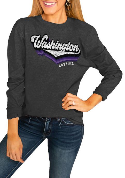 NCAA Washington Huskies Vivacious Varsity Long Sleeve Top