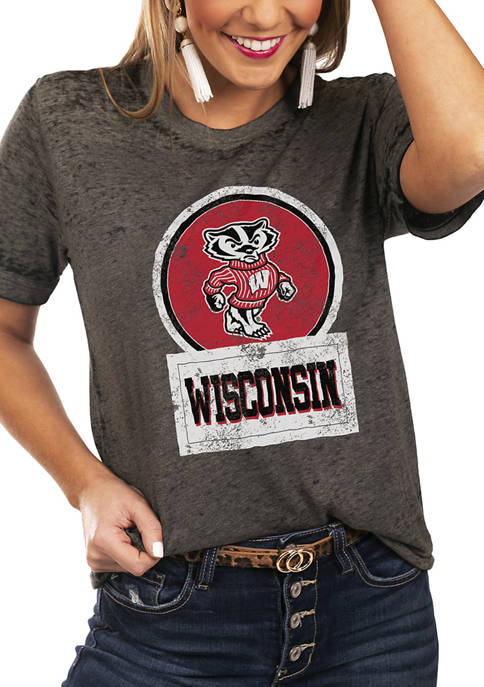 NCAA Wisconsin Badgers Let The Good Vibes Roll Boyfriend Top