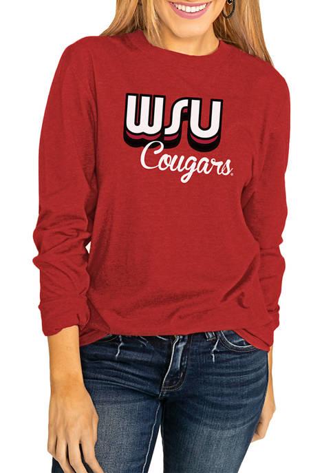 NCAA Washington State Cougars Throwback Varsity Vibes Long Sleeve Top