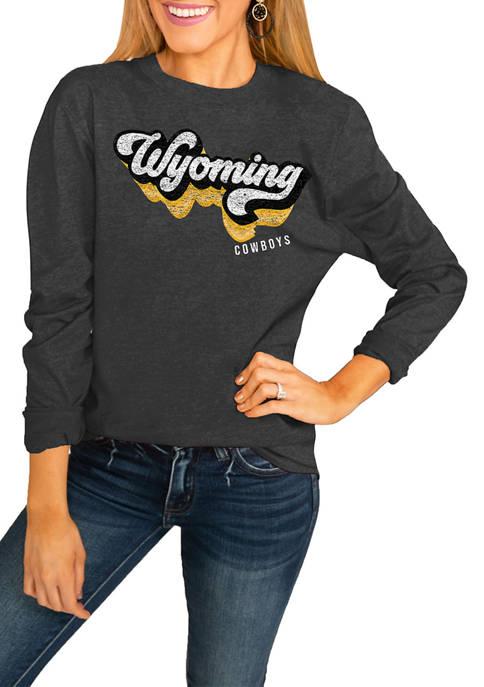 NCAA Wyoming Cowboys Vivacious Varsity Long Sleeve Top