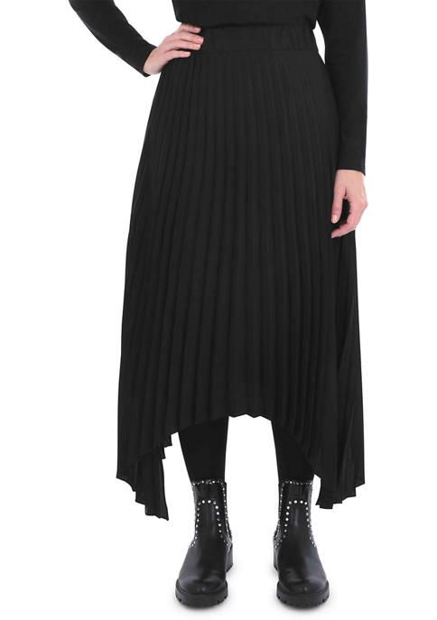 Live Unlimited Plus Size Pleated Hanky Hem Skirt