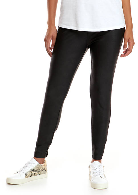 Crown & Ivy™ Womens Faux Leather Leggings