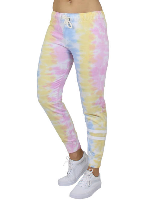 Galaxy by Harvic French Terry Tie-Dye Fashion Joggers