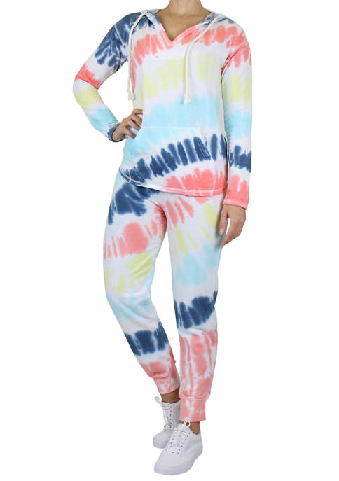 Galaxy by Harvic 2-Piece Burnout Fleece Hoodie and