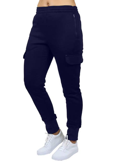 Galaxy by Harvic Cargo Fleece Joogger Sweatpants
