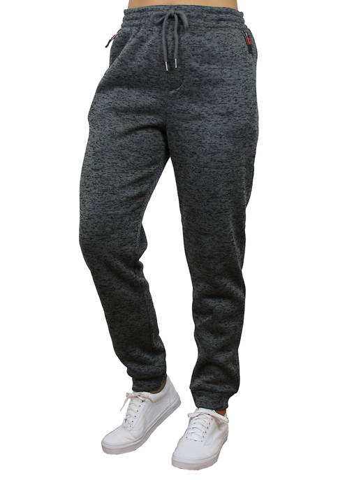 Galaxy Womens Loose Fit Fleece Jogger Sweatpants with