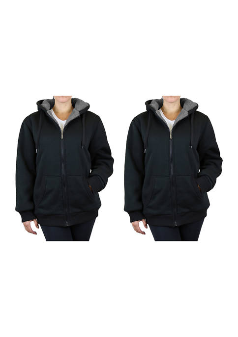 Galaxy Womens Loose Fitting Heavy Sherpa Lined Hoodies