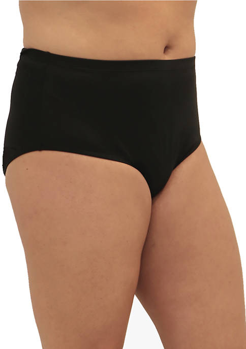 Plus Size Fit 4 Ur Tummy Swim Brief Bottoms