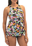 Hi Neck 2 Tier Swim Top
