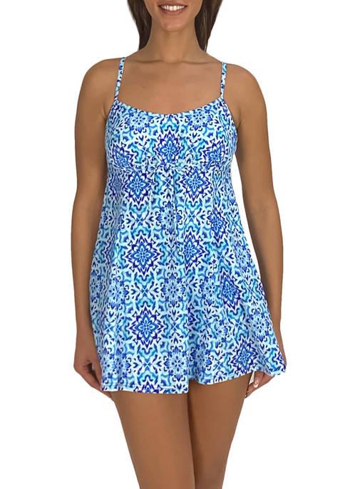 Fit 4 U Thighs Drawstring Swim Dress