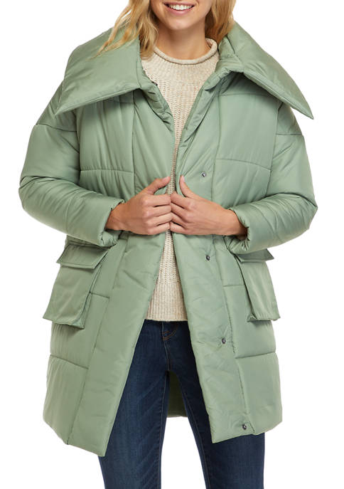 TRUE CRAFT Long Sleeve Quilted Puffer Coat