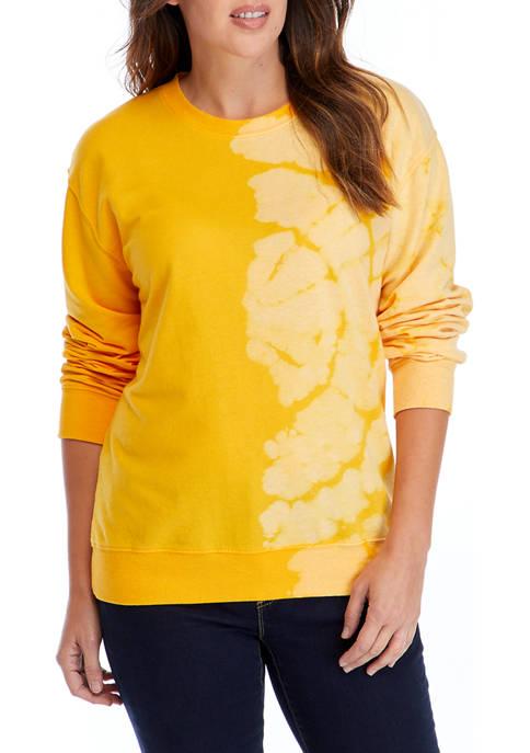 Crown & Ivy™ Womens Long Sleeve Tie Dye