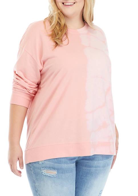 Crown & Ivy™ Plus Size Tie Dye Sweatshirt