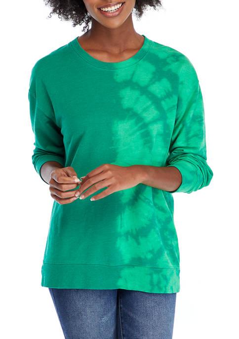 Womens Long Sleeve Tie Dye Pullover