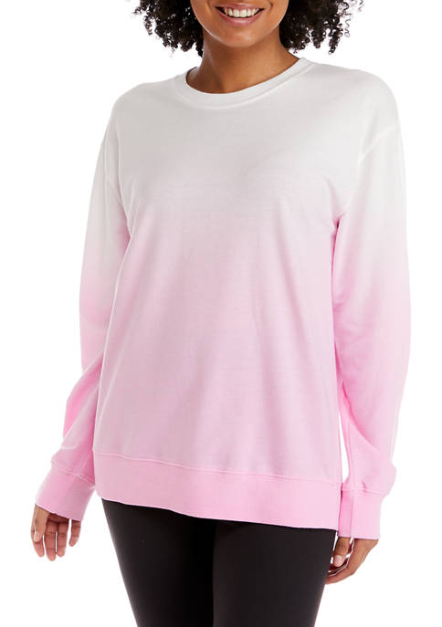 Crown & Ivy™ Plus Size Dip Dye Sweatshirt