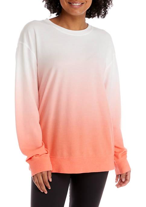 Crown & Ivy™ Petite Dip Dye Sweatshirt