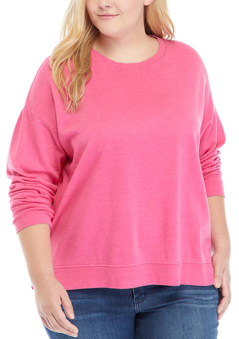 Plus Size Garment Dye Sweatshirt