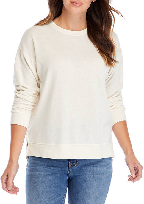 Crown & Ivy™ Womens Crew Neck Pullover