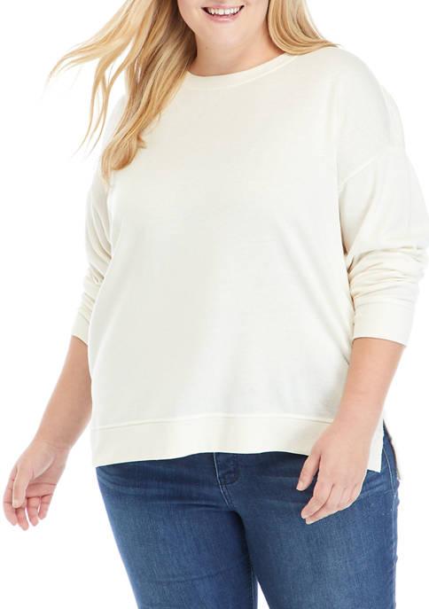 Crown & Ivy™ Plus Size Garment Dye Sweatshirt