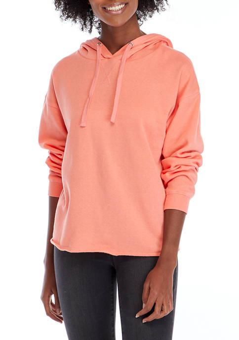 Crown & Ivy™ Womens Garment Dyed Hoodie