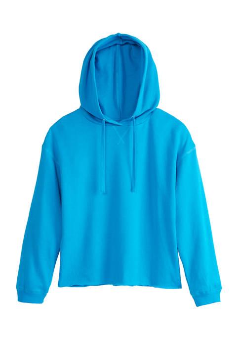 Crown & Ivy™ Womens Long Sleeve Garment Dye